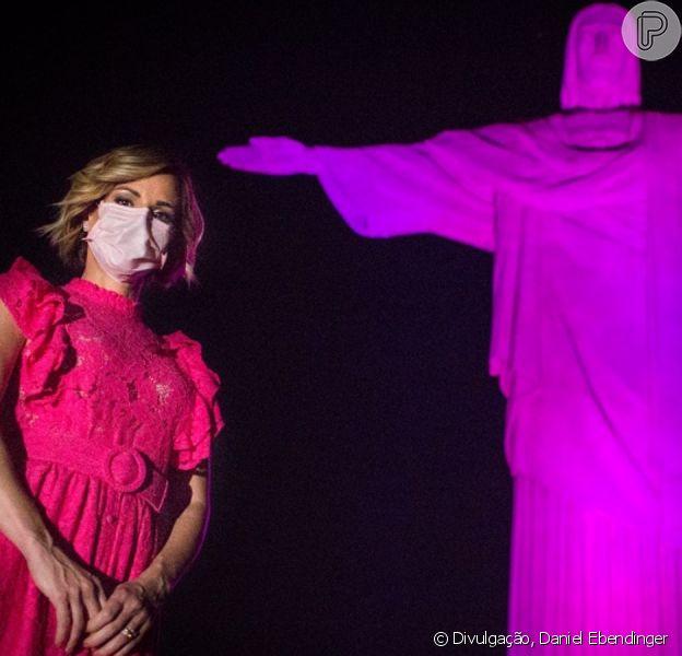 Outubro Rosa: Adriane Galisteu e mais famosas se reunem em evento no Cristo Redentor!