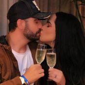 Perlla chora com pedido oficial de namoro e troca alianças com Diogo Bottino: 'Me acolheu'