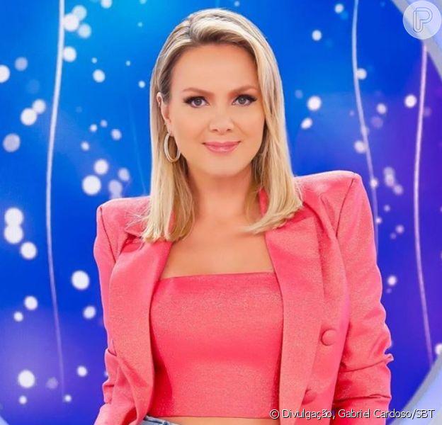 Eliana usa top e blazer NV by Nati Vozza em programa de TV