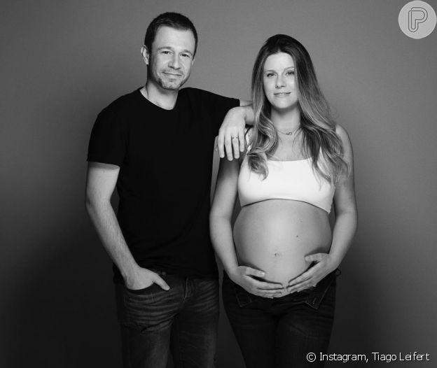 Tiago Leifert comemora nascimento de Lua, sua primeira filha com Daiana Garbin