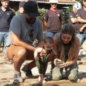 Biah Rodrigues e Sorocaba plantam umbigo do filho em 'árvore da vida'. Saiba mais