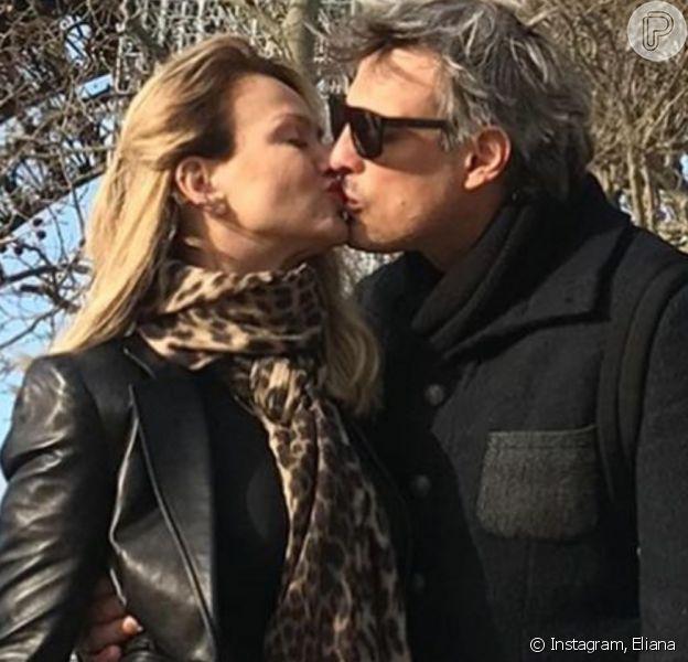 Eliana postou fotos beijando Adriano Ricco para comemorar aniversário do noivo nesta segunda-feira, 7 de dezembro de 2020