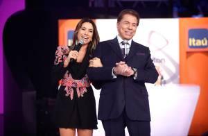 Patricia Abravanel volta à TV após gravidez e se declara ao marido: 'Presente'