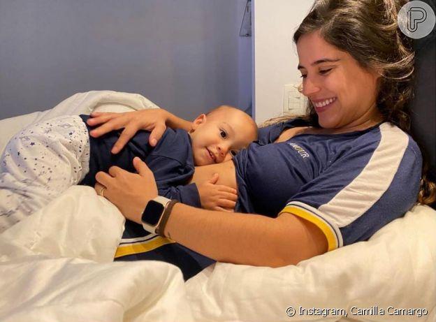 Camilla Camargo é mãe de Joaquim, 1 ano