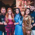 Maiara e Maraisa passaram o Natal com o irmão, Caio Cesar, e os pais, Almira e Marco Cesar