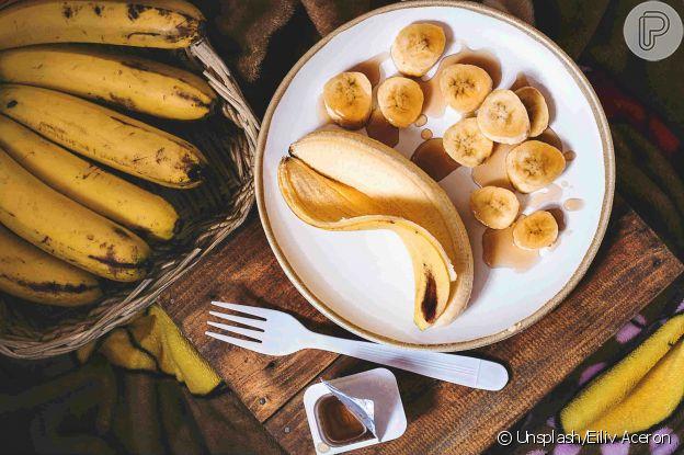 Banana é ingrediente de receita para pele