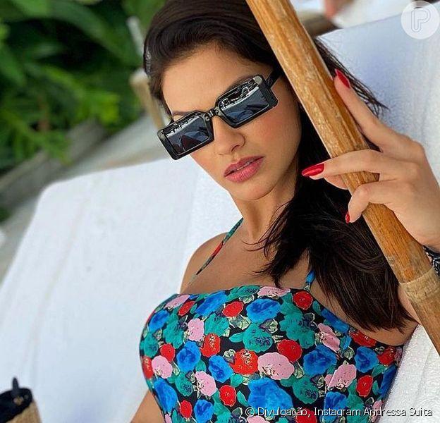 Andressa Suita está curtindo dias de descanso no Rio de Janeiro