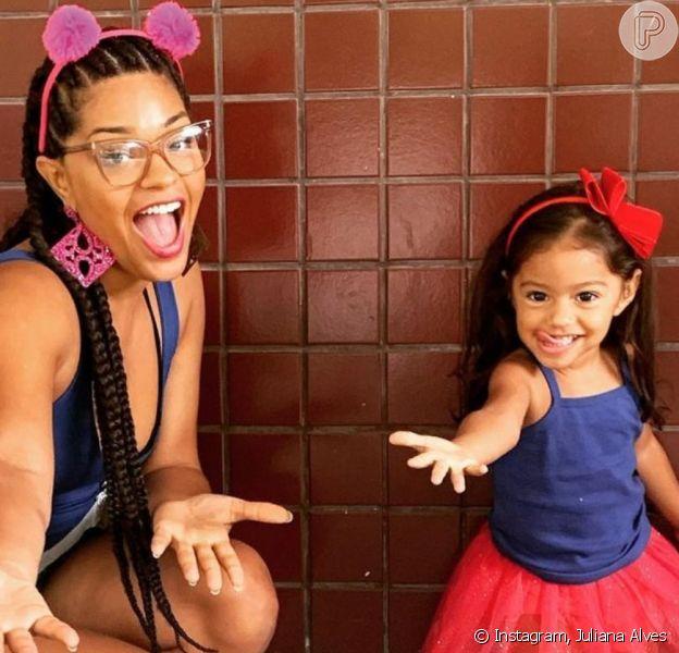 Juliana Alves exibe novo corte de cabelo da filha, Yolanda, em vídeo na web