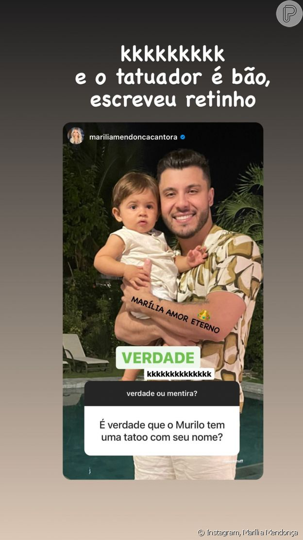 Marília Mendonça divertiu namorado, Murilo Huff, ao responder seguidora no Instagram