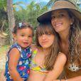 Ticiane Pinheiro está passando férias com as filhas, Rafaella Justus e Manuella