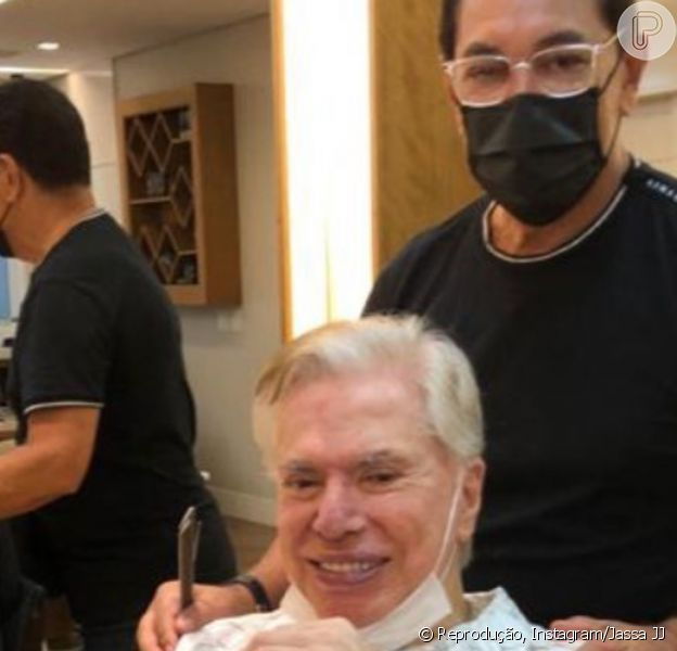 Silvio Santos renova visual 1 mês após aniversário de 90 anos e deixa cabelo branco. Fotos!