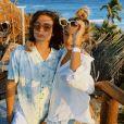 Sasha Meneghel e João Figueiredo mostram bastidores da viagem no Instagram