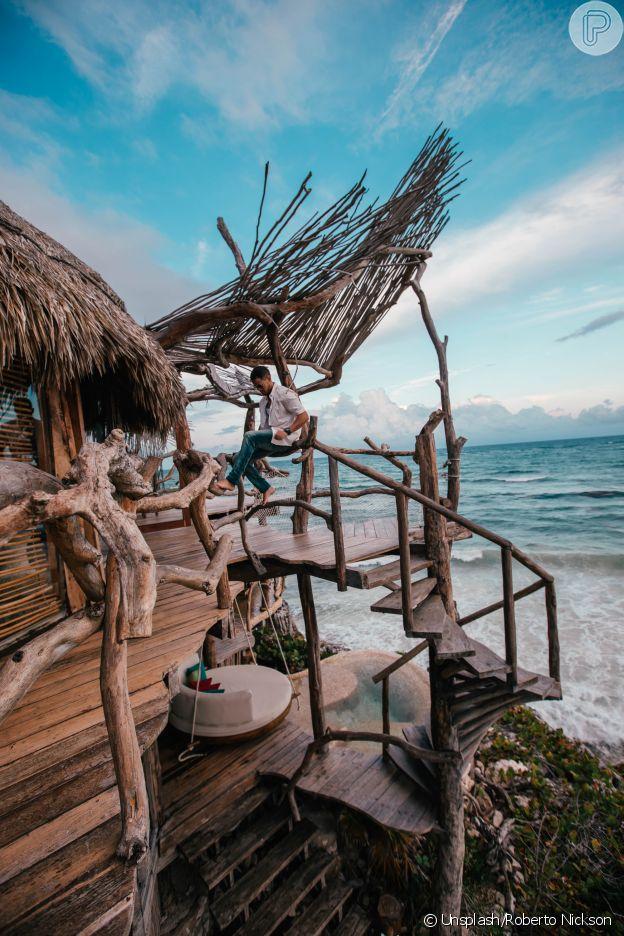 Foto de viajante no Azulik Tulum