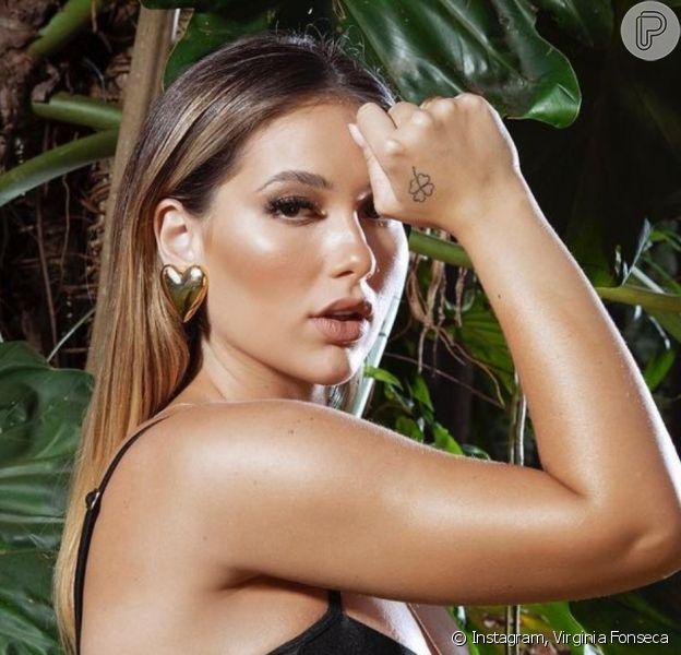 Virginia Fonseca, de biquíni asa-delta, exibiu barriga da 1ª gestação: 'Grávida mais linda'