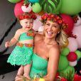 Ana Paula Siebert e Roberto Justus se diverte com a filha