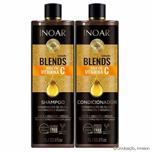Kit Shampoo e Condicionador Blends, da Inoar
