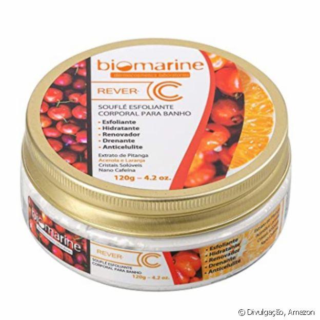 Souflé Esfoliante Rever C para banho, da Biomarine