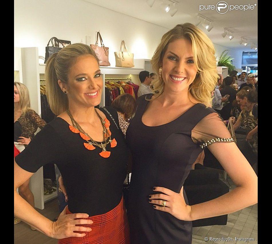 Ticiane Pinheiro visita Ana Hickmann na inauguração da loja da  apresentadora, em São Paulo, 3797563e66