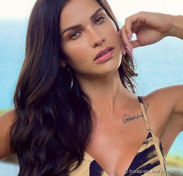 Andressa Suita surge com cabelo mais longo e famosas aprovam visual: 'Perfeita'