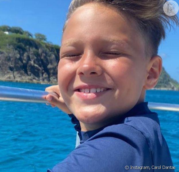 Carol Dantas celebrou mudança da família para a Espanha: 'O Davi está feliz por que está perto do pai'