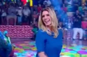Leticia Spiller cai no samba no 'Esquenta' e é destaque no Twitter: 'Gata, diva'