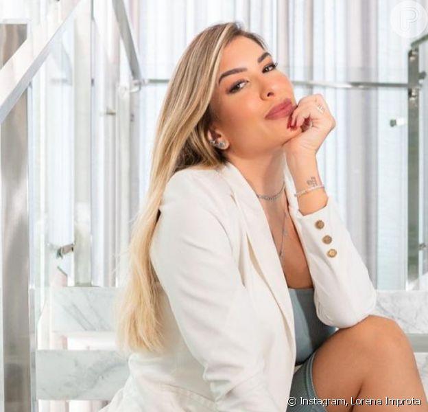 Grávida, Lorena Improta fica surpresa ao notar detalhe curioso em foto antiga. Confira!