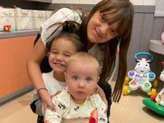 Fofura em dose tripla: Rafa Justus mostra encontro com irmãs Vicky e Manuella. 'Amo tanto'