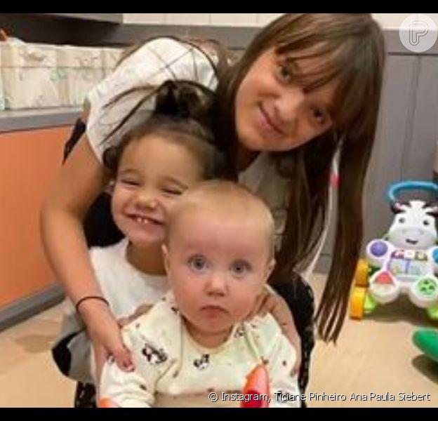Fofura em dose tripla: Rafa Justus mostra encontro com irmãs Vicky e Manuella: 'Amo tanto'