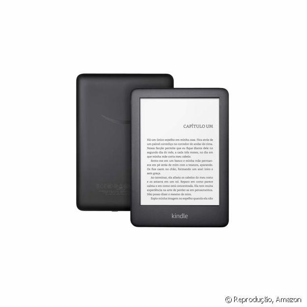 Kindle com iluminação embutida, disponível na Amazon