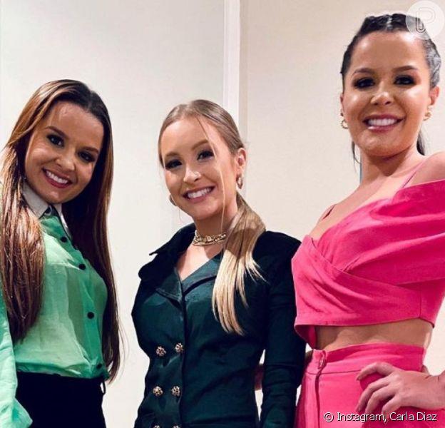 Carla Diaz, Maiara e Maraisa posam juntas para foto e web comemora: 'Maturidade que fala'