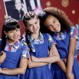 Cinthia Cruz posa com atrizes da novela 'Chiquititas', entre elas Júlia Olliver