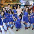 Cinthia Cruz ao lado do elenco da novela 'Chiquititas', em reexibição pela segunda vez no SBT