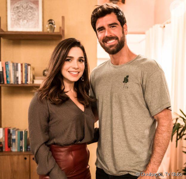Novela 'Salve-se Quem Puder': Micaela (Sabrina Petraglia) tem final feliz com Bruno (Marcos Pitombo)