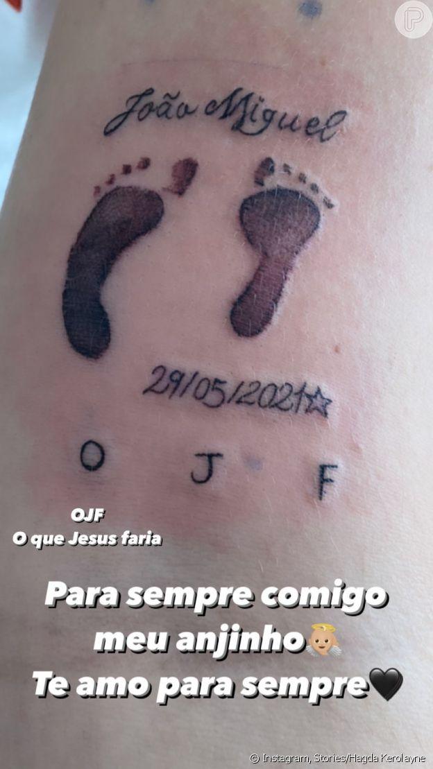 Filho de Whindersson Nunes foi homenageado pela irmã de humorista com tatuagem