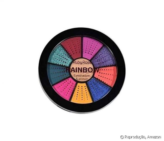 Mini Paleta de Sombras Rainbow,  Ruby Rose