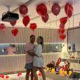 Virgínia Fonseca e Zé Felipe comemoraram o dia dos namorados em casa, em clima de romance