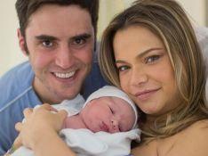Nasce segundo filho de Milena Toscano e atriz mostra fotos: 'Hipnotizada pelo seu olhar'