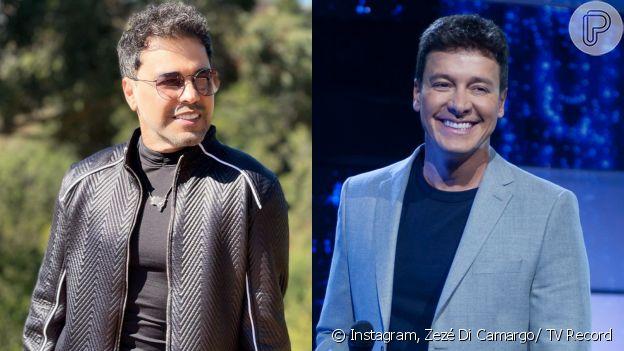 Zezé Di Carmargo e Rodrigo Faro se envolveram em uma troca de farpas nas redes sociais após cantor dizer que o apresentador 'vende até a mãe por audiência'