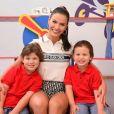 Andressa Suita e filhos dela com Gusttavo Lima foram vistos com o cantor em Brasília