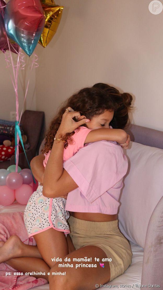 Thyane Dantas celebra aniversário de filha mais velha com Wesley Safadão, Ysis, de 7 anos