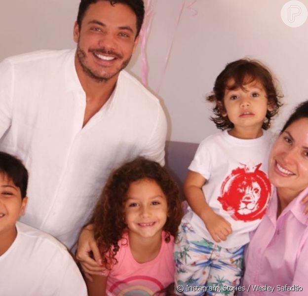Wesley Safadão comemora aniversário de  7 anos da filha mais velha com Thyane Dantas, Ysis