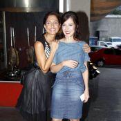 Camila Pitanga e Marjorie Estiano assistem ao último capítulo de 'Lado a Lado'
