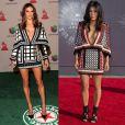 Alessandra Ambrosio escolhe o mesmo vestido Balmain usado por Kim Kardashian, só que com estampas diferentes