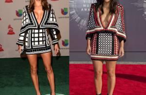 Alessandra Ambrosio usa o mesmo vestido Balmain que Kim Kardashian em evento