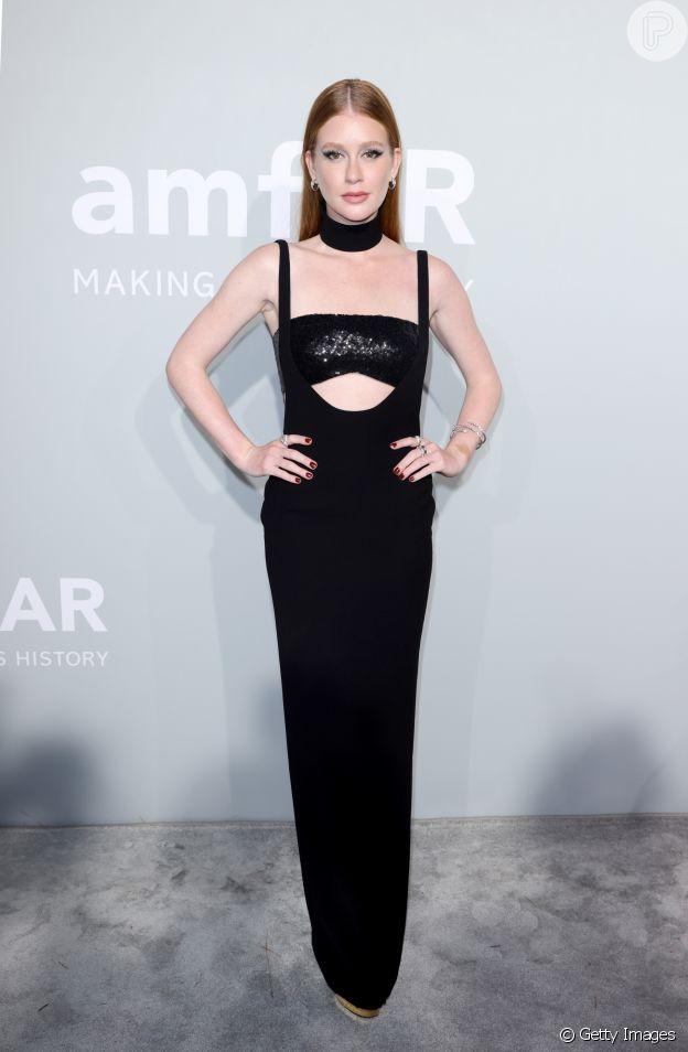 Marina Ruy Barbosa em look Mônot em Cannes