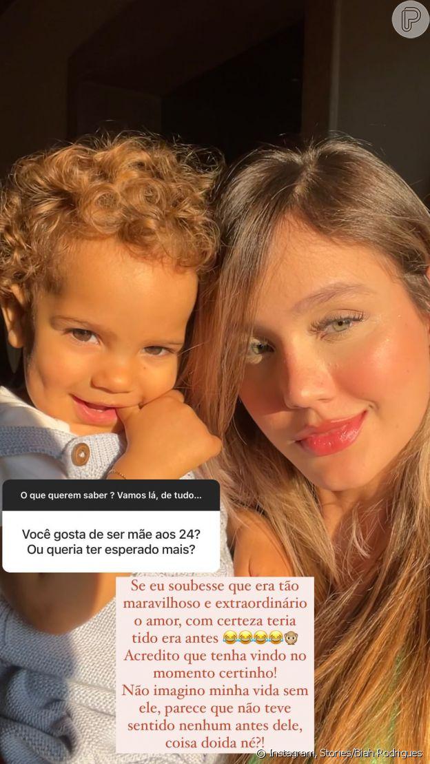 Grávida pela 2ª vez, Biah Rodrigues aprova maternidade aos 24 anos