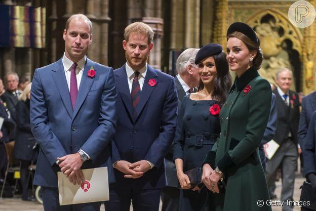 Príncipe Harry e Príncipe William teriam discutido no funeral do avô