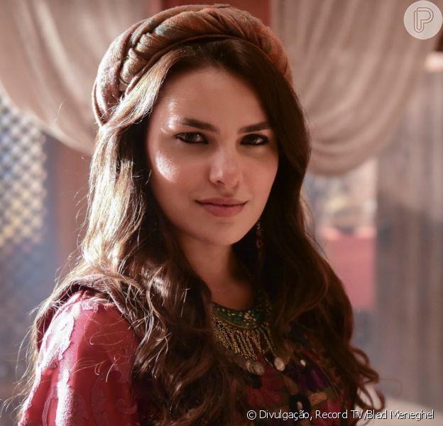Na novela 'Gênesis', Raquel (Thais Melchior) vai ordenar que Bila (Allana Lopes) tenha filhos com seu marido, Jacó (Miguel Coelho)