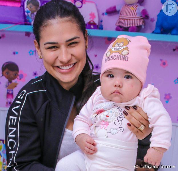 Simone faz tour por nova casa em Fortaleza (CE) e mostra quarto da filha recém-nascida, Zaya, de 4 meses