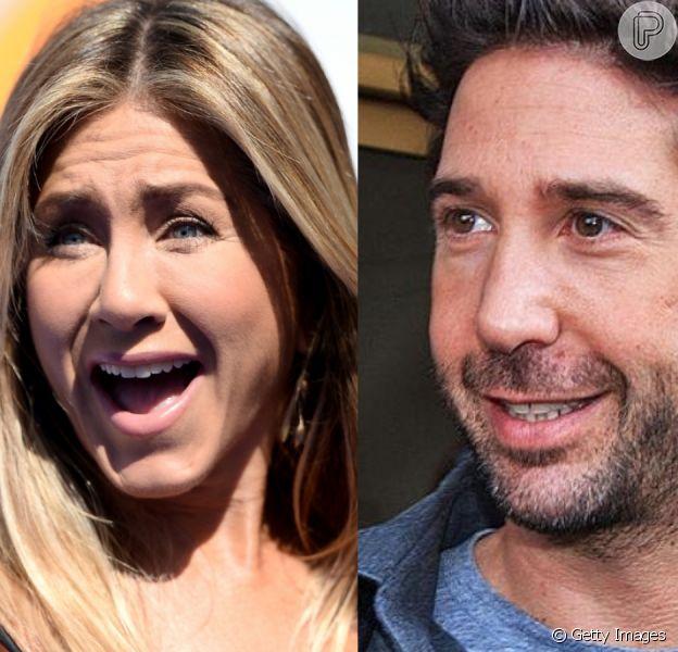 Jennifer Aniston e David Schwimmer, a Rachel e o Ross de 'Friends', estão juntos, diz revista americana